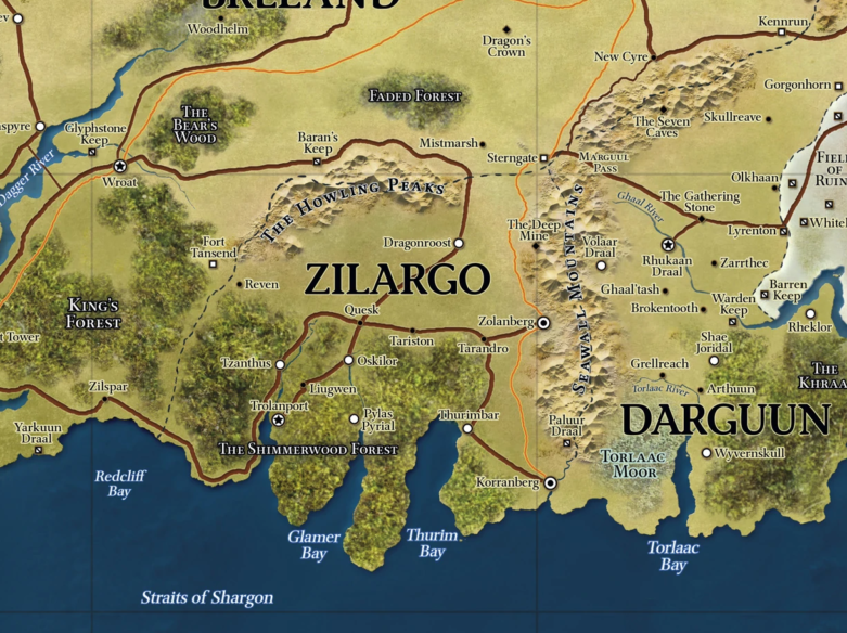 Khorvaire Map: Zilargo Close Up